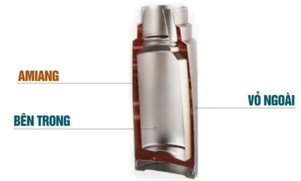 chất amiang rất độc hại có trong bình giữ nhiệt trung quốc