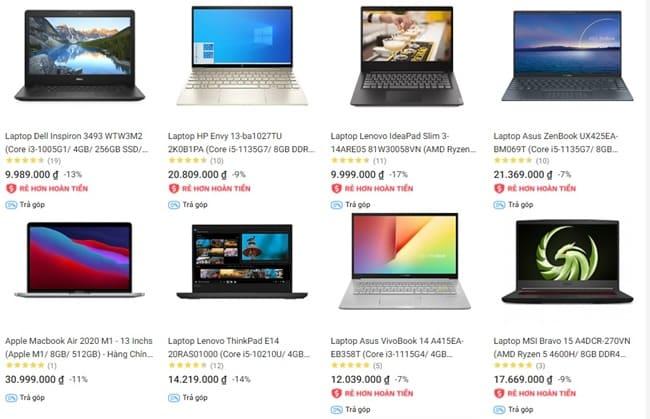 Tiki kinh doanh macbook, laptop chính hãng