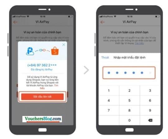 kích hoạt Ví AirPay trên ứng dụng Shopee