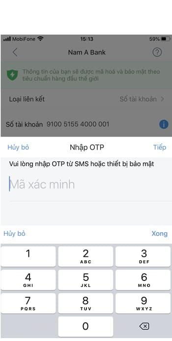 Các bước liên kết ví airpay với Nam Á Bank