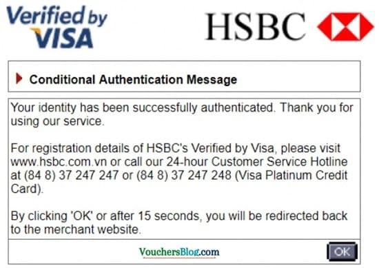 """Bạn bấm nút """"OK""""để hoàn tất quá trình mua hàng trả góp tại tiki bằng thẻ tín dụng"""