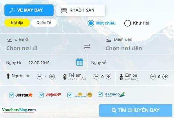 Tiki có các hãng Jetstar, Vietjet Air, Vietnam Airlines, Bamboo