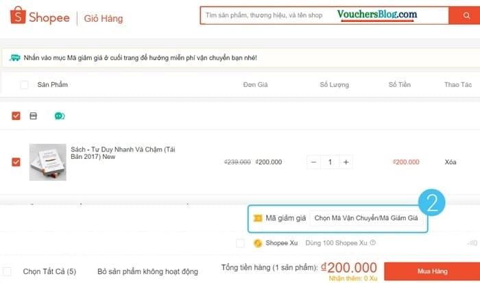 Các bước thanh toán đơn hàng Shopee bằng Ví AirPay (trên website)
