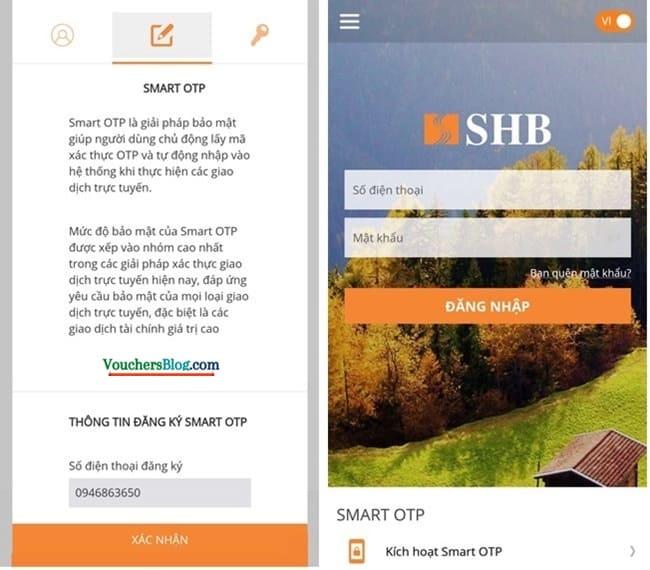 Hướng dẫn các bước chuyển đổi cách xác thực từ eSecure sang Smart OTP của ngân hàng SHB