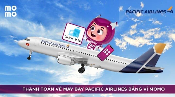 Đặt mua vé máy bay Pacific Airlines giá rẻ, tiện lợi trên Ví MoMo