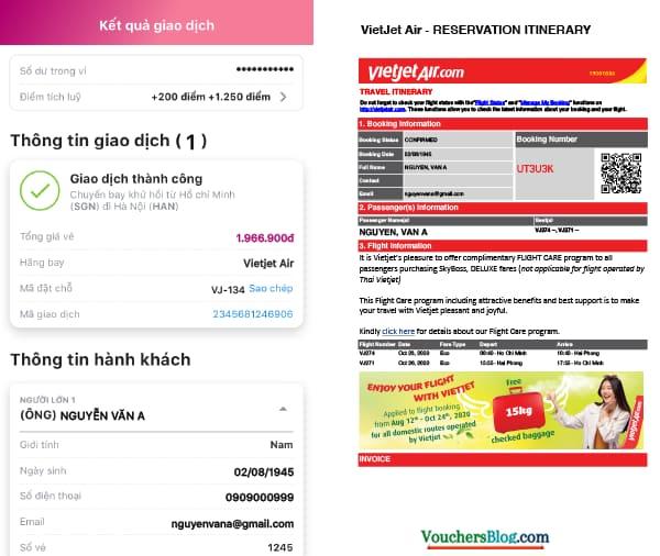 Hướng dẫncác bướcđặt mua vé Vietjet Air trên Ví MoMo