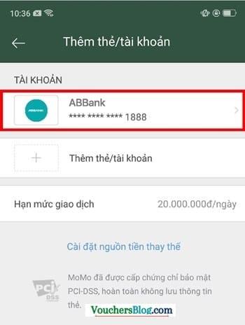 Hướng dẫn cách hủy liên kết tài khoản ABBank và momo
