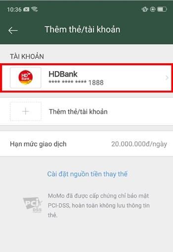 Hướng dẫn cách hủy liên kết tài khoản HDBank và momo