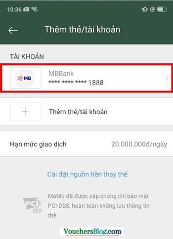 Hướng dẫn cách hủy liên kết tài khoản MBbank và momo