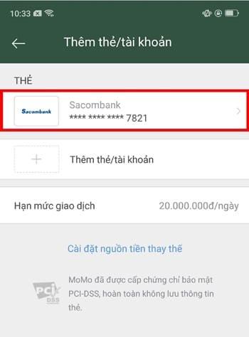 Hướng dẫn cách hủy liên kết SacomBank và momo