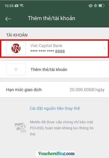 Hướng dẫn cách hủy liên kết vietcapitalBank và momo