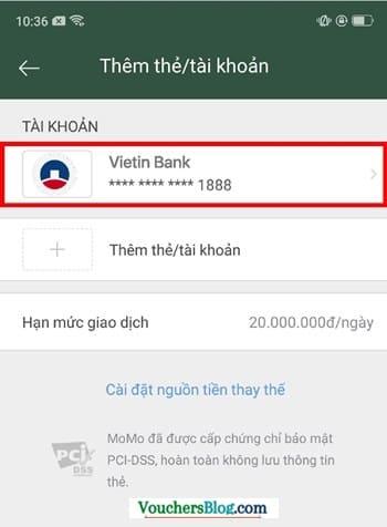 Chủ đề:Hướng dẫn cách hủy liên kết vietinBank và momo