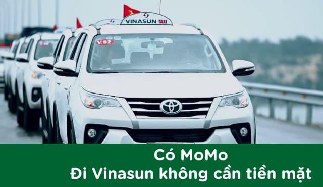 Trải nghiệm thanh toán Taxi Vinasun Bằng ví momo