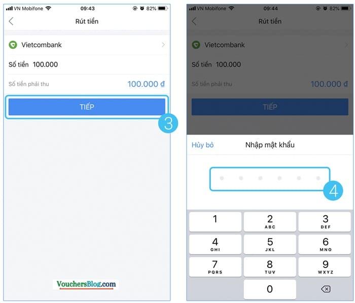 Hướng dẫn cách rút tiền airpay từ ngân hàng liên kết