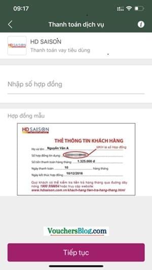 Cách thanh toán khoản vay HD SAISON bằng Ví MoMo
