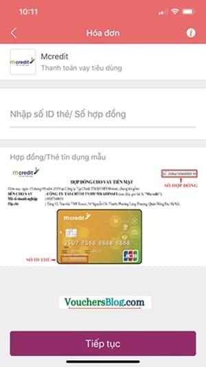 Các bước thanh toán khoản vay tiêu dùng Mcredit bằng Ví MoMo