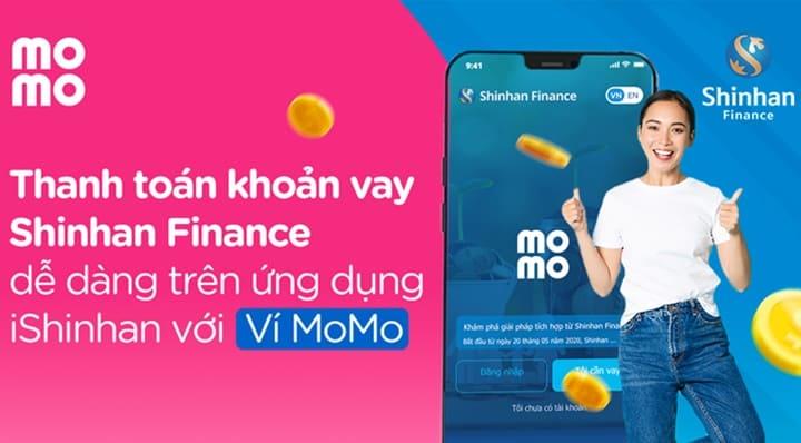 Thanh toán khoản vay tiền Shinhan Finance bằng Ví MoMo