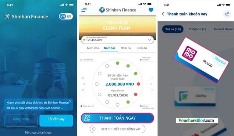 Hướng dẫn thanh toán khoản vay Shinhan Finance trên ứng dụng iShinhan với Ví MoMo