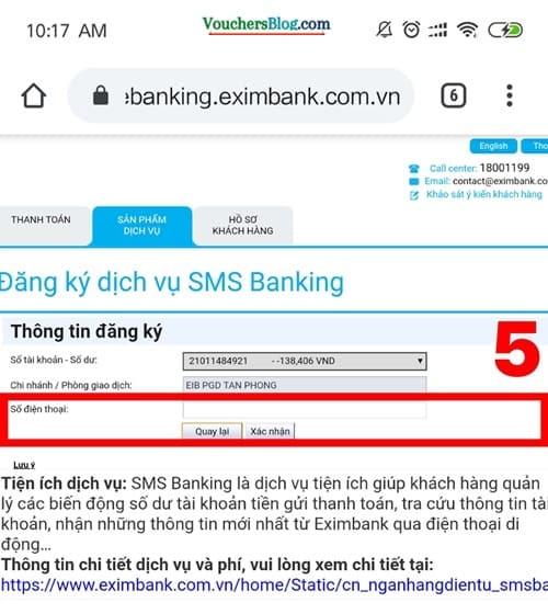 cách đăng kí SMS Banking của Eximbank dễ dàng và nhanh chóng