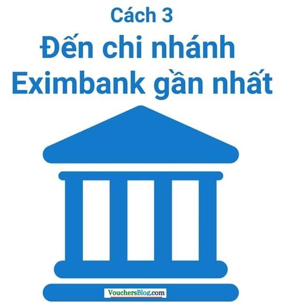 Đăng kí sms banking Eximbank tại chi nhánh ngân hàng Eximbank