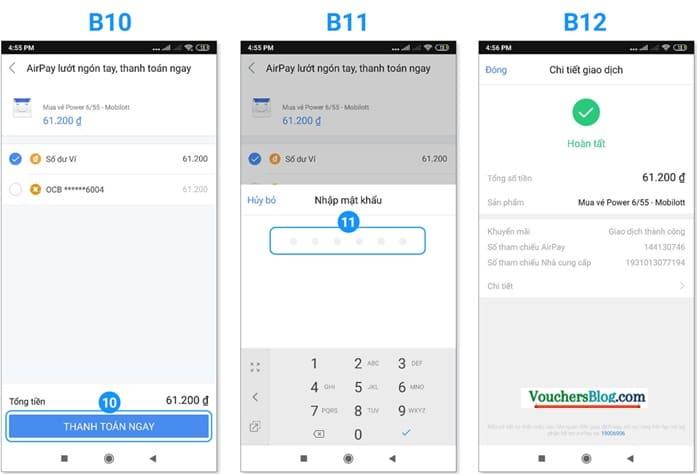 Hướng dẫn mua vé số Vietlott trên Ví AirPay (áp dụng cho hệ điều hạnh Android)