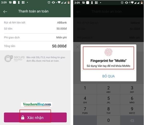 Rút tiền khỏi ví momo về ABBank