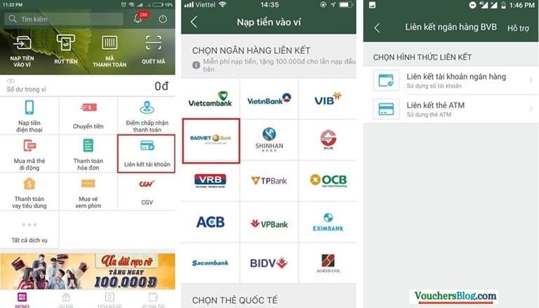 Liên kết momo và Bảo Việt Bank