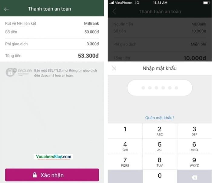 Rút tiền khỏi ví momo từ MBBank