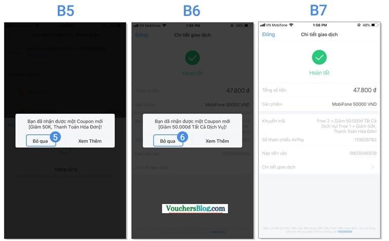 Hướng dẫn giao dịch thanh toán đầu tiên bằng tài khoản OCB đã liên kết (ví dụ: Nạp tiền điện thoại)