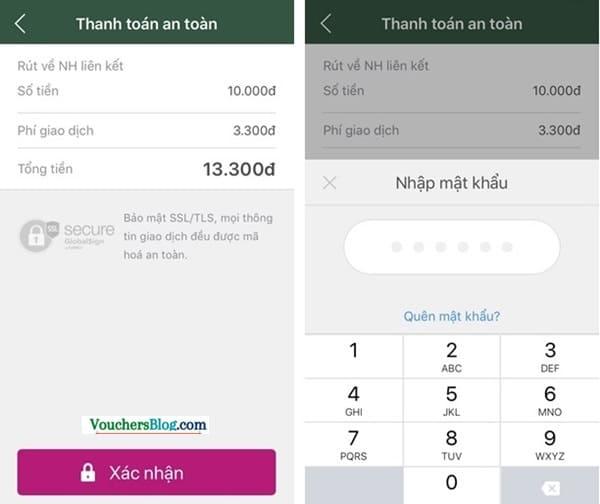 Rút tiền khỏi ví momo về VPBank
