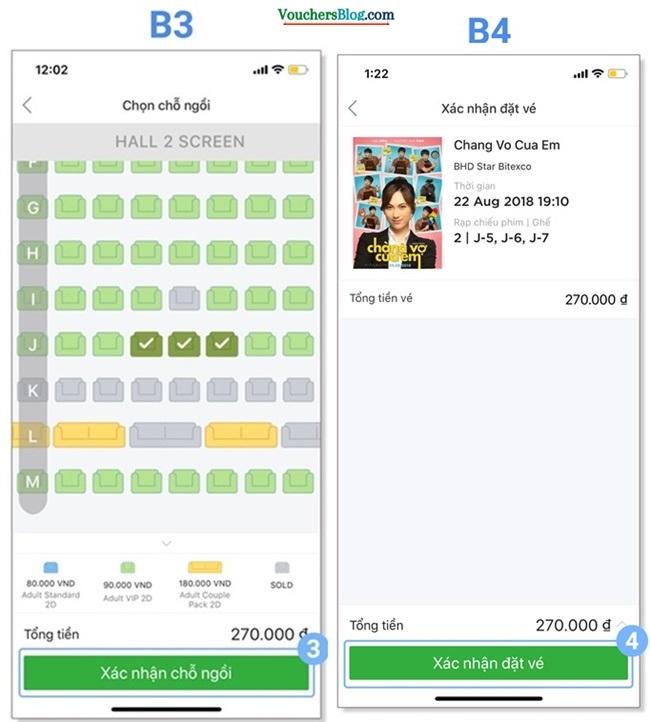 Hướng dẫn các bước mua và thanh toán vé xem phim BHD bằng Ví AirPay