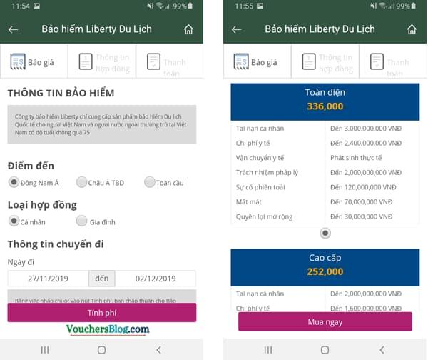 Các bước thanh toán Bảo hiểm Liberty bằng Ví MoMo