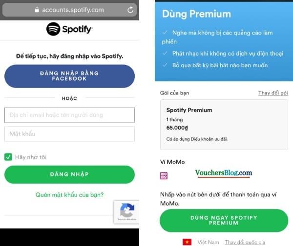 Các bước thanh toán Spotify bằng Ví MoMo dễ dàng