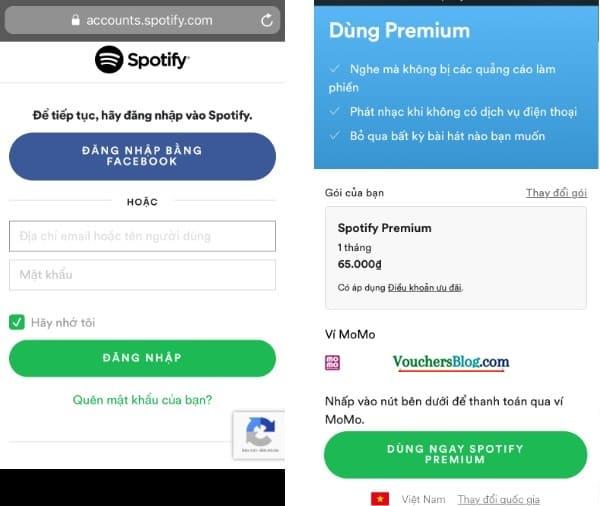 Hướng dẫn cách thanh toán Spotify bằng Ví MoMo