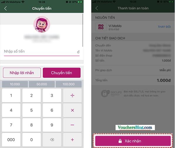 Các bước thanh toán Comeco bằng Ví MoMo
