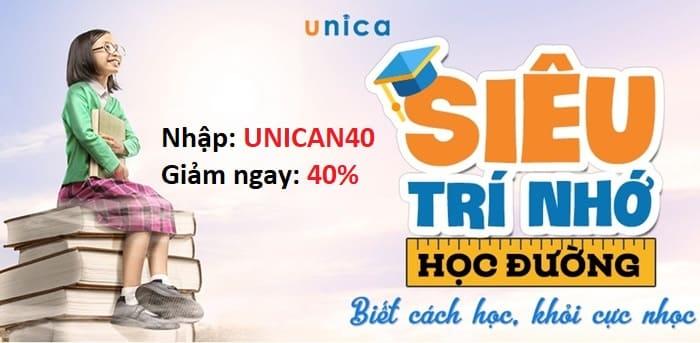 Mã giảm giá khóa học online trên unica