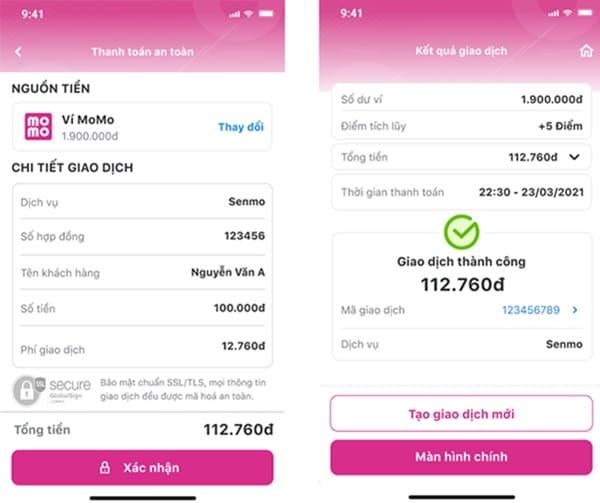 Hướng dẫn thanh toán khoản vay Senmo trên MoMo