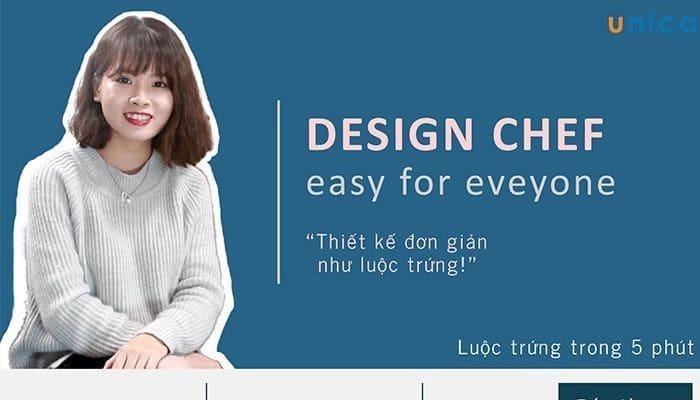 Giới thiệu khóa học 3 phút thiết kế ảnh quảng cáo cùng Design chef bằng phần mềm thiết kế online