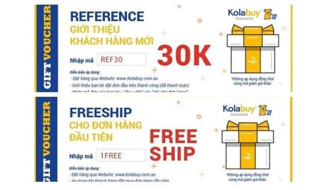 Các chương trình khuyến mãi của kolabuy.com.au