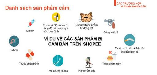 Một số sản phẩm bị cấm bán trên Shopee