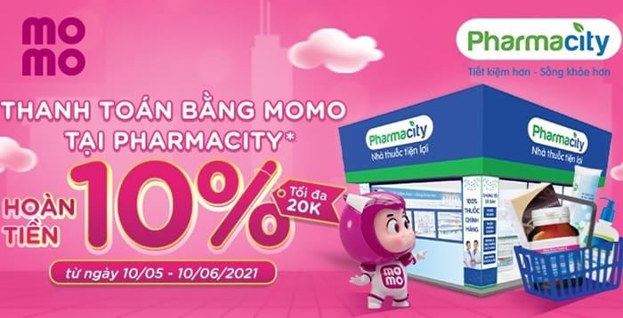 Hoàn tiền 10% khi thanh toán MoMo tại Pharmacity