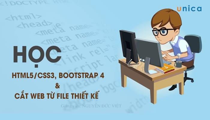 Giới thiệu khóa học HTML5/CSS3, BOOTSTRAP 4 và học cắt Web từ file thiết kế