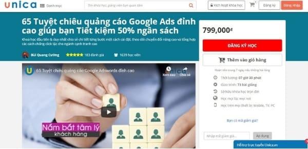 Khóa học 65 Tuyệt chiêu quảng cáo Google Ads đỉnh cao giúp bạn Tiết kiệm 50% ngân sách