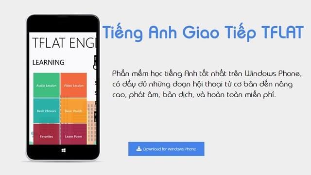 Phần mềm học tiếng Anh TFlat là một trong những phần mềm miễn phí trên điện thoại