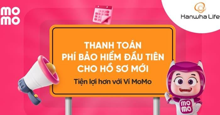 Từ nay đã có thể thanh toán Hồ sơ mới của Hanwha Life Việt Nam ngay trên Ví MoMo