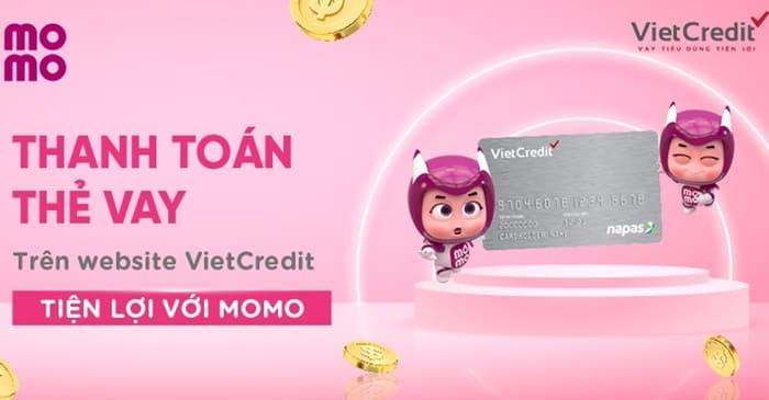Thanh toán thẻ vay trên website VietCredit với MoMo