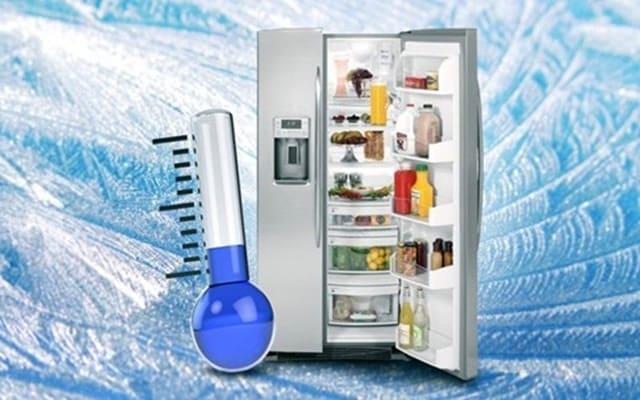 Kiểm tra nhiệt độ tủ lạnh bằng nhiệt kế