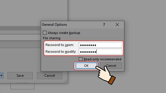 cách khóa File Excel