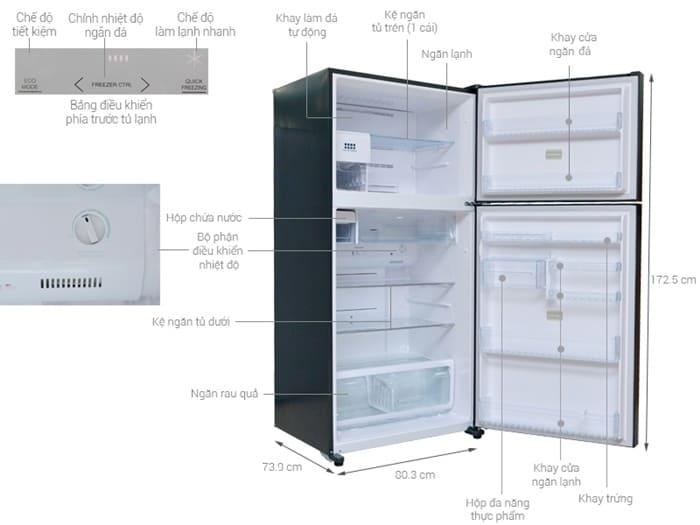 Cấu tạo cơ bản của tủ lạnh Toshiba