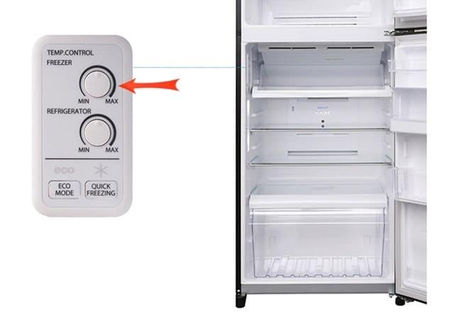 Cách chỉnh nhiệt độ ngăn đông